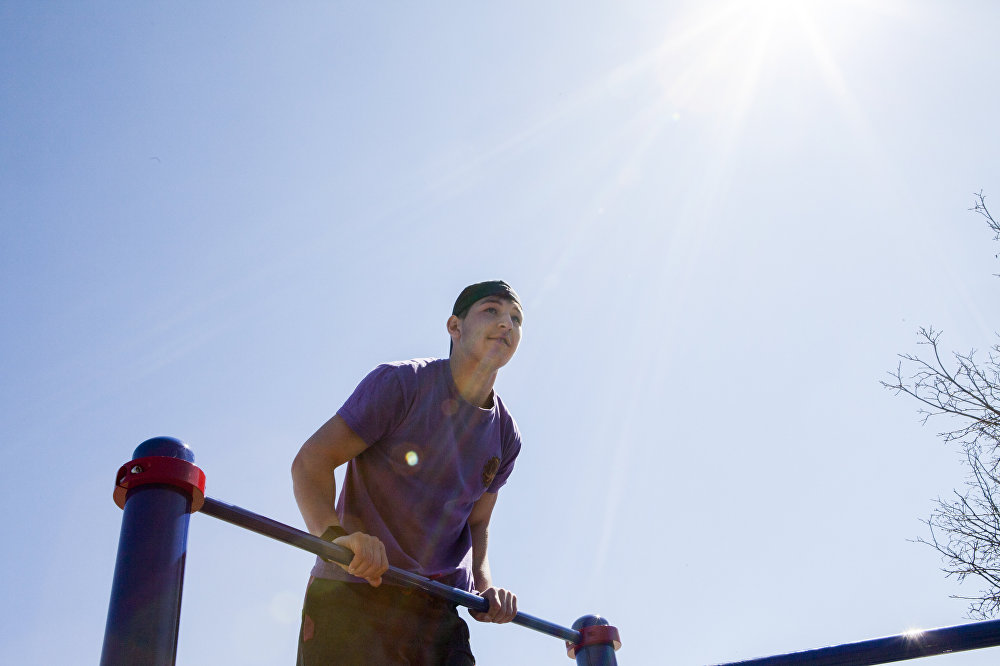 Открытие спортивной площадки Work Out