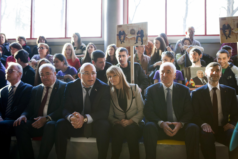 Встреча Тибилова и депутатов ГД РФ с молодежью