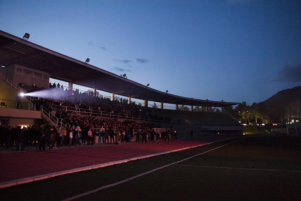 Концерт Басты впервые прошел в Южной Осетии и собрал полный стадион
