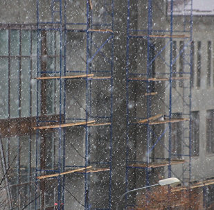 В Цхинвале пошел снег