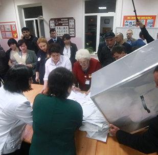 В Южной Осетии подсчитывают голоса избирателей
