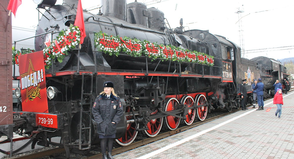 Ретро-поезд Уæлахиз фыццаг хатт æрцыд Дзæуджыхъæумæ
