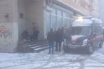 Место взрыва неизвестного предмета в руках у петербуржца
