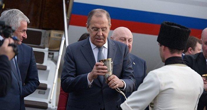Визит главы МИД РФ Сергея Лаврова в Абхазию