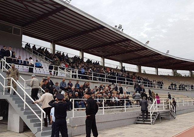 Стадион в ожидании инаугурации