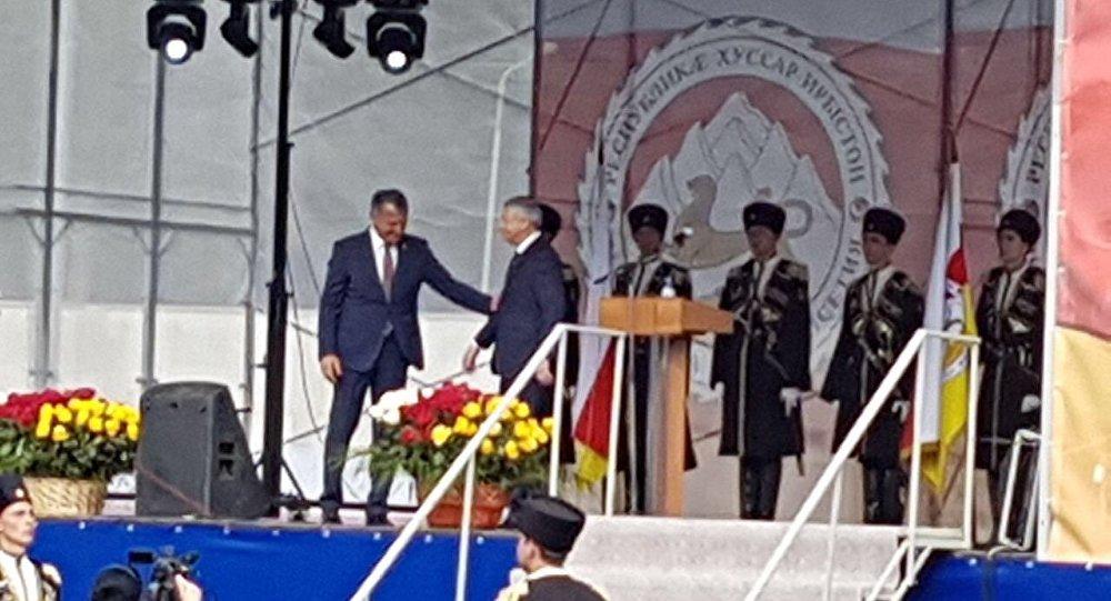 Анатолий Бибилов с главой Северной Осетии Вячеславом Битаровым