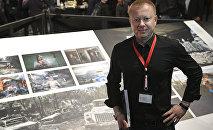 Специальный фотокорреспондент МИА Россия сегодня Валерий Мельников на открытии выставки победителей World Press Photo в Амстердаме.