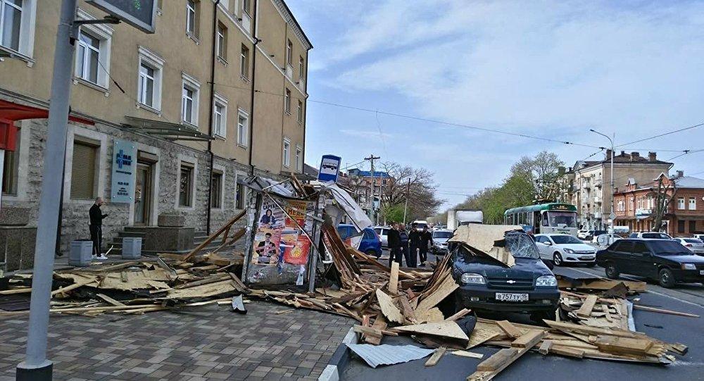 Последствия стихии во Владикавказе