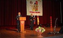 Анатолий Бибилов на собрании в честь образования Погрануправления ФСБ РФ в РЮО
