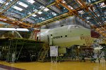 Сборка самолета ИЛ-76МД-90А в цехе окончательной сборки на Ульяновском авиационном заводе