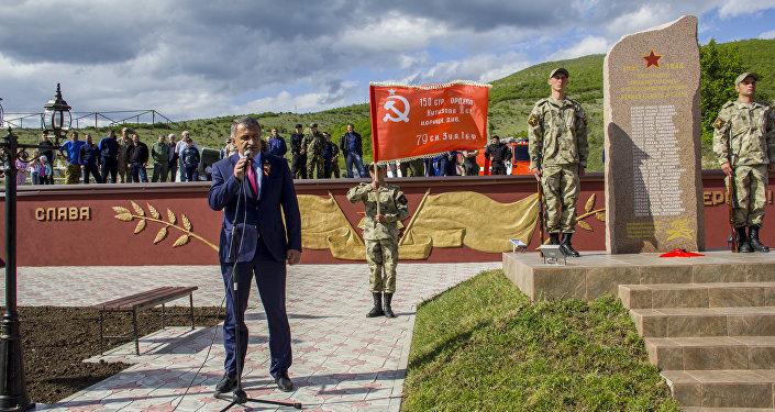 Открытие памятника в селе Прис