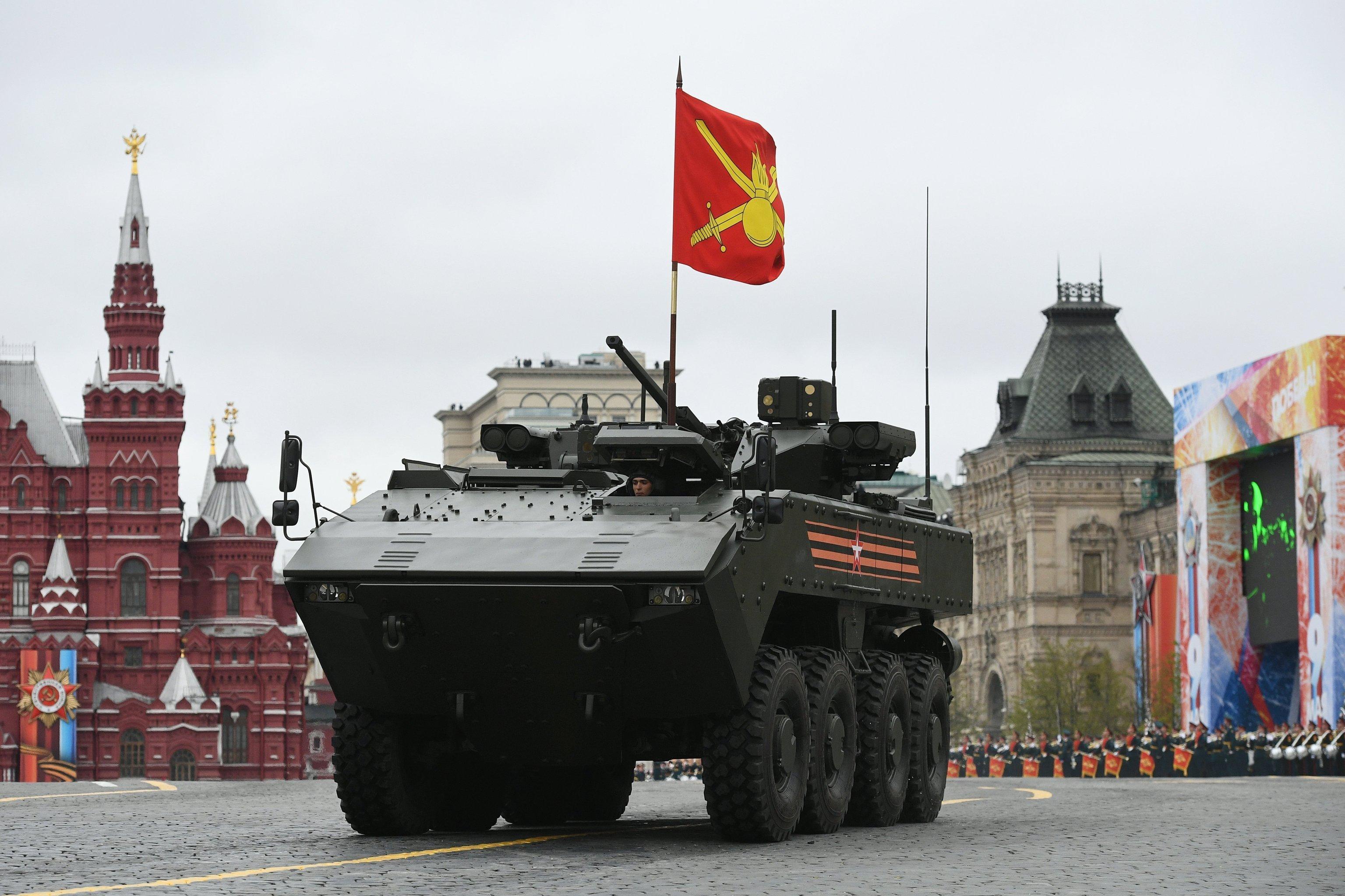 БМП на базе платформы ВПК-7829 Бумеранг на военном параде на Красной площади