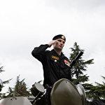 В параде участвовали более 30 единиц боевой техники