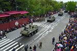 Грады и коробки: в Цхинвале прошел военный парад