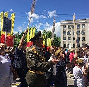 В акции Бессмертный полк близкие и родственники пришли отдать дань памяти и уважения старшим, погибшим в боях Великой Отечественной Войны