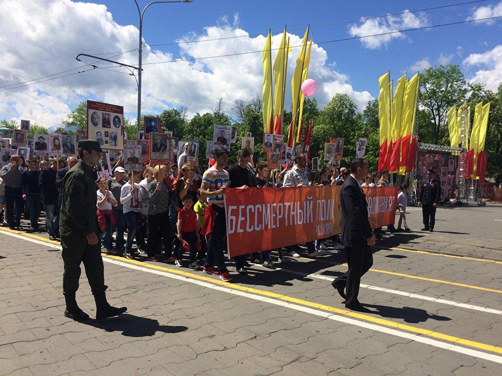 В этом году во Владикавказе в полку прошло рекордное количество человек - пятнадцать тысяч жителей республики