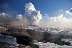 Извержение вулкана на Камчатке
