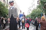 Традиционное шествие гигантских кукол в Мадриде
