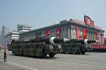 Пусковые установки баллистических ракет средней дальности Nodong Корейской народной армии