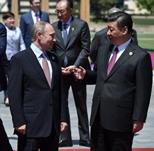 Президент РФ Владимир Путин, председатель Китайской Народной Республики Си Цзиньпин