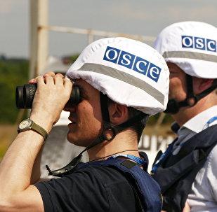 Представители инспекции ОБСЕ на линии соприкосновения в Донбассе