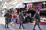 Военнослужащие в центре столицы Гондураса Тегусигальпе