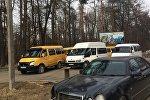 Стоянка маршруток во Владикавказе
