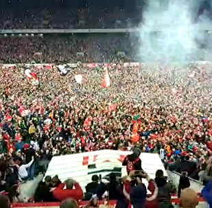 Фанаты Спартака выбежали на поле после матча с грозненским Тереком