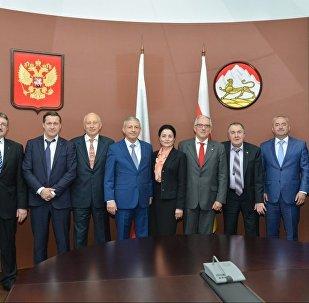 Встреча главы Северной Осетии с президентом торговой палаты Швейцария - Россия