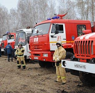 Учения МЧС по ликвидации лесных пожаров
