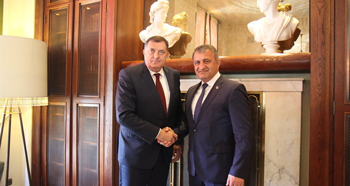Встреча президента Южной Осетии Анатолия Бибилова с президентом Республики Сербская Милорадом Додиком