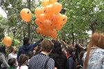 Сюрприз для детей Цхинвала от Sputnik: фирменные шары и яркий аквагрим