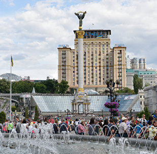 В центре Киева во время празднования Дня города