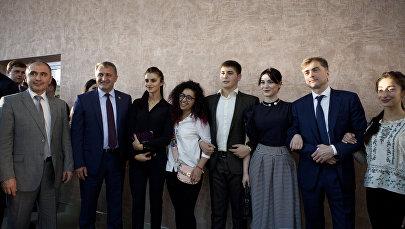 Приезд В.Ю. Суркова в Южную Осетию