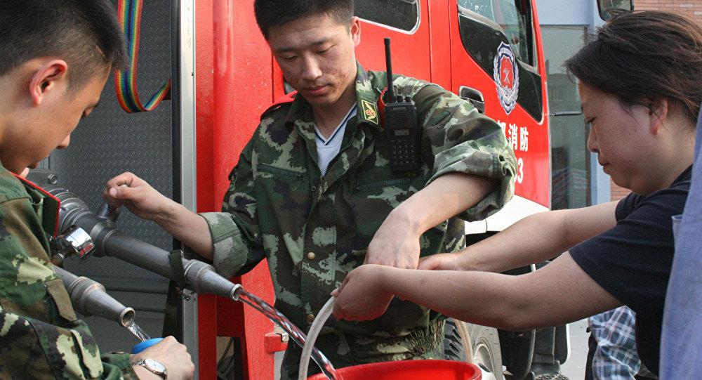 В китайской провинции Сычуань, пострадавшей от мощного землетрясения