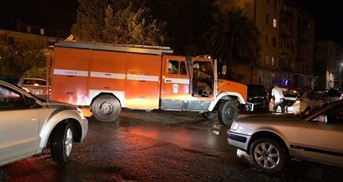 Место взрыва в Сухуме