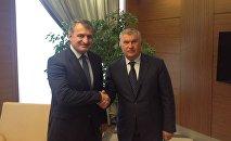 Встреча президента РЮО Анатолия Бибилова с главой Роснефти Игорем Сечиным