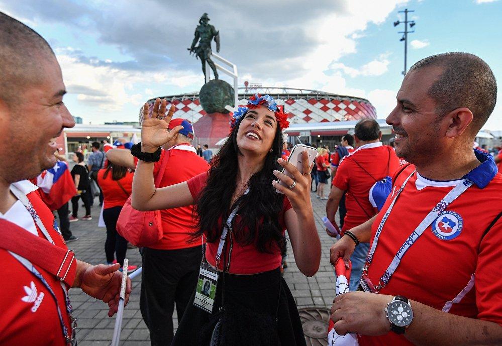Стадион Спартак перед матчем Кубка конфедераций-2017 Камерун -Чили