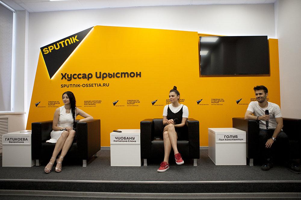 Участники группы Radio Killer в пресс-центре Sputnik