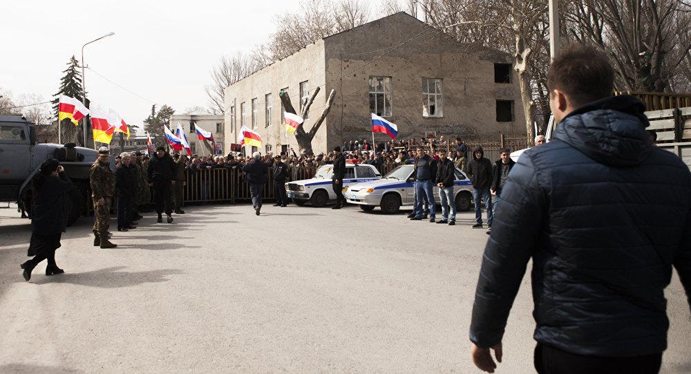 Митинг сторонников Эдуарда Кокойты