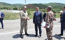 Президент Анатолий Бибилов ознакомился с ходом строительства полигона