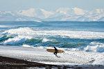 Зимний серфинг на Тихоокеанском побережье