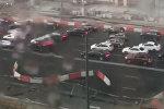 Шторм в Москве вызвал затор на Садовом кольце
