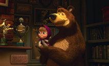 кадр из мульфильма Маша и медведь