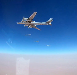 Кадры пуска крылатых ракет с бомбардировщиков Ту-95