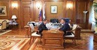 Встреча президент Южной Осетии Анатолия Бибилова с главой Газпрома Алексеем Миллером