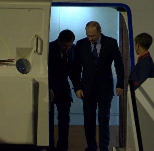 Прибытие  Владимира Путина в Гамбург на саммит G20