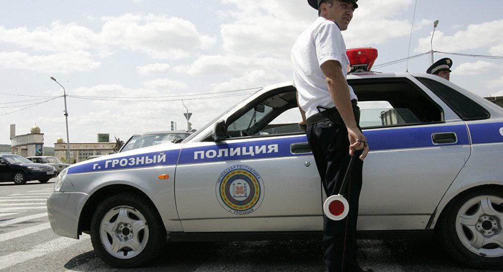 Работа сотрудников ГИБДД города Грозный