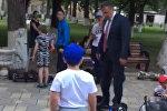Бибилов катался на сигвее в парке: надо ехать в ногу со временем