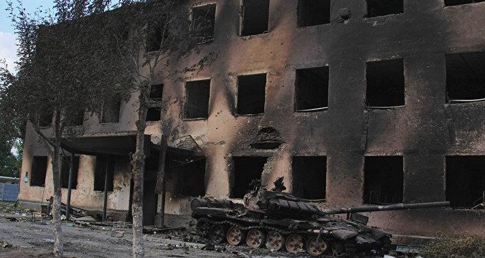 Уничтоженная база российских миротворцев